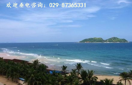 乘车前往美女岛【分界洲岛】小岛四周海域清澈透明